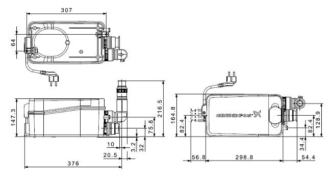 Габаритные размеры Sololift2 D-2