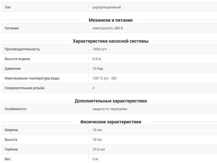 Технические характеристики Wilo TOP-S 30/7